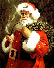 Smoking Santa Claus