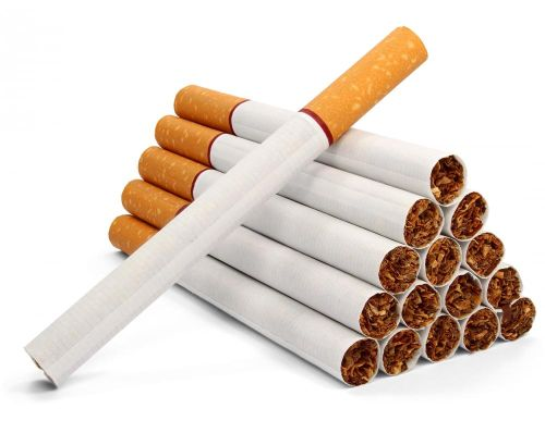 arranged cigarettes