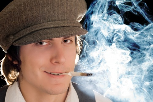 Smoking Student